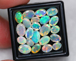Opal 7.25Ct Natural Ethiopian Welo Faceted Opal Mixed Size E1309