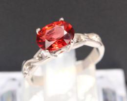 Rhodolite Garnet Ring 1.68g 925 Sterling Silver Ring E1310