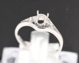 Semi Mount 4.5x3.5mm 18K Fine Jewelry White Gold G/VS Diamond Ring V34