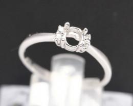 Semi Mount 4.5x3.5mm 18K Fine Jewelry White Gold G/VS Diamond Ring V35
