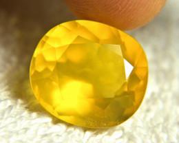 10.97 Carat Best Yellow Mexican Fire Opal - Gorgeous