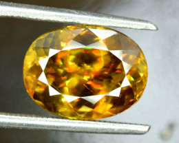 5 * Carats Oval Cut AAA Grade Color Full Fire Sphene Titanite Gemstone