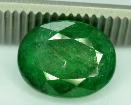 5.85  * Carats Natural Oval Cut Zambian Emerald Gemstone