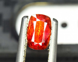 1.40 * Carats Rare Blood Red Color Natural Radiant Cut Tantalite Gemstone