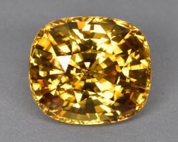 27.07 Cts Mesmerizing Sparkling Lustrous Nartural Cambodian Yellow Zircon