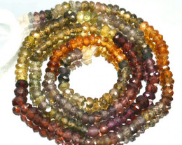19.95 Cts Natural Tuntu Sapphire Beads - 33 cm - 2.8x2.4 mm