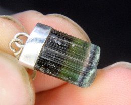 Wow Tri Tourmaline Pendant For Tourmaline Lovers.