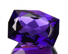 Bright Purple 3.89Ct Natural Bolivian Amethyst Fancy Cushion