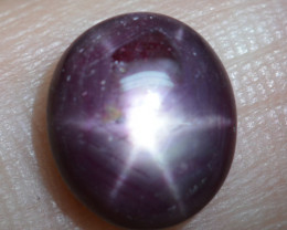 Natural Star Ruby Six Ray Madagascar Oval 4.44 Cts