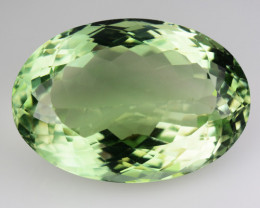 26.50 Cts Natural Green Prasiolite / Amethyst Oval Cut Brazil