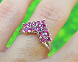 Natural Ruby  925 Sterling Silver Ring (SSR0005)