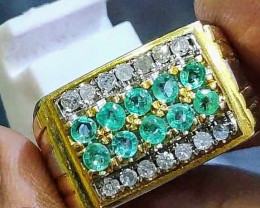 LUXURY NATURAL EMERALD SILVER*