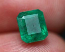 Emerald 1.61Ct Natural Vivid Green Zambian Emerald B1411