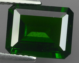 3.15 CtS ATTRACTIVE ULTRA RARE NATURAL CHROME DIOPSIDE OCTAGON RUSSIA!!