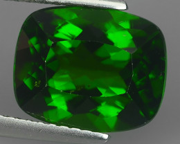 4.65 CtS ATTRACTIVE ULTRA RARE NATURAL CHROME DIOPSIDE CUSHION RUSSIA!!