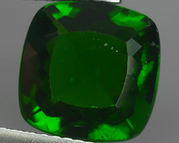 4.35 CtS EXCELLENT RARE RUSSIAN GREEN NATURAL CUSHION CHROME DIOPSID GEM~