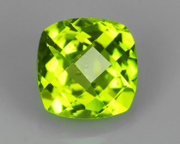 2.85 CTS EXCELLENT NATURAL  PERIDOT~ CUSHION  ~ NICE QUALITY GOOD LUSTER!!