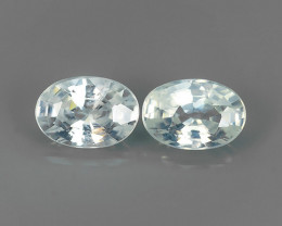 1.40 CTS~EXCELLENT NATURAL WHITE ZIRCON~ OVAL  ~ NICE QUALITY GOOD LUSTER!