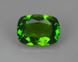 1.45 CTS~NATURAL ULTRA RARE CHROME GREEN DIOPSIDE CUSHION RUSSIA