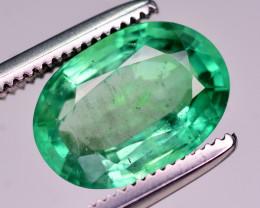 Certified ~ Top Quality 2.00 Ct Natural Zambian Emerald