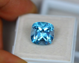 7.58Ct Blue Topaz Cushion Cut Lot LZ2030