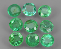 ~EXCELLENT~NATURAL EMERALD ~ ROUND  ~ NICE QUALITY GOOD COLOR GOOD~