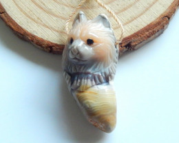 Hand Carved Pendant ,Gemstone Pendant ,Agate Pendant ,Great Craft B714