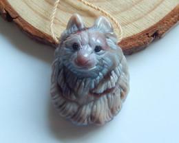 Hand Carved Pendant ,Gemstone Pendant ,Agate Pendant ,Great Craft B716