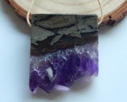 Well Designed!!! Nugget Amethyst Gemstone  Pendant , Gem Supply, Gorgeous P