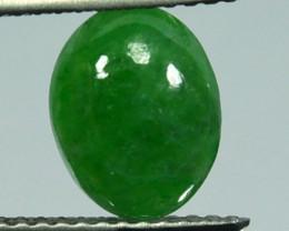 Fine Green 1.78Ct Untreated Natural Burmese Jade Cab
