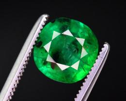 GGL Certified 1.60 Ct Top Color Natural Emerald. RA