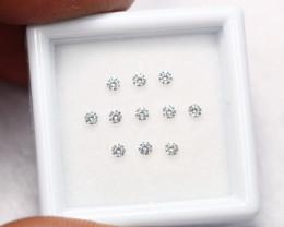 1.90mm 11Pcs D/E/F Color VS1 Ex Ex Ex Natural Loose White Diamond