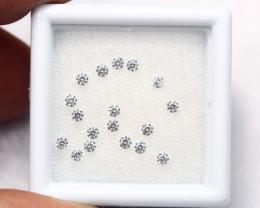1.90mm 18Pcs G/H Color VVS1 Natural Loose White Diamond