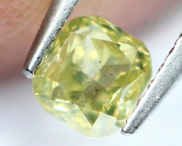 0.18Ct Untreated Fancy Intense Green Olive Color Diamond A1507