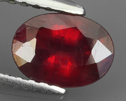 1.10 CTS~Dazzling! Beautiful Oval Facet Red Natural Ruby~