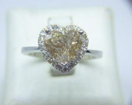 1.83ct Diamond Ring , 14kt White Gold.