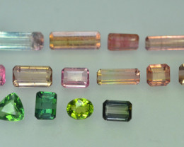 14.50 ct Natural Untreated Mix Color Tourmaline~Afghanistan ~ Lot