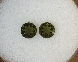 1,40ct Moldavite pair - Natural faceted Tektite!