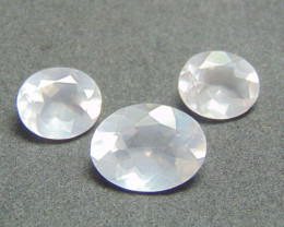 Rose quarts~ mix sixes ~ faceted stones  16.80cts