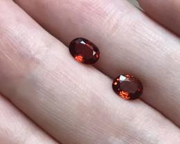Sparkling Spessartite Garnet Pair