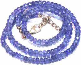 75 CTS TANZANITE FACETED BLUISH VIOLET BEADS PG-2583