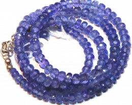 80 CTS TANZANITE FACETED BLUISH VIOLET BEADS PG-2584