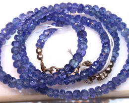79.35 CTS TANZANITE FACETED BLUISH VIOLET BEADS PG-2585