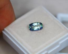 1.02ct Greenish Violet Blue Tanzanite Octagon Cut Lot V3595