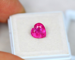 2.51ct Pink Ruby Composite Heart Cut Lot V3600
