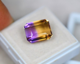 7.84ct Bi Color Ametrine Emerald Cut Lot V3601