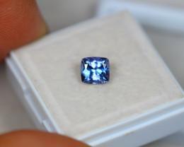 1.08Ct Violet Blue Tanzanite Cushion Cut Lot B517