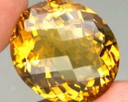 Unheated Clean 19.02 ct  100% Natural Top Yellow Golden Citrine Brazil