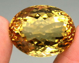 Clean Precious! 29.07ct. 100% Natural Unheated Top Yellow Golden Citrine Br
