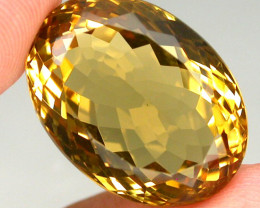 Clean 30.04 ct. 100% Natural Top Yellow Golden Citrine Brazil